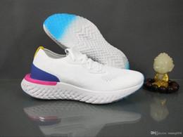 cunhas escuras da marinha Desconto nike Flyknit Epic React  2019 melhor qualidade vôo React S0UTH tênis de corrida dos homens da faculdade marinha triplo preto cinza escuro malha designer sports shoes36-45