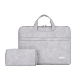 Laptop bag caso mulher on-line-À prova d 'água PU bolsa de Laptop de couro para As Mulheres 13.3 14 15 15.4 15.6 polegada bolsa para Laptop case bolsa para mulheres 2019 bolsa mujer bolso