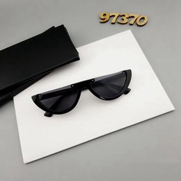 84922a2371 New style euramerican individual character vogue half frame sun glasses  tide individual character is cruel dazzle cat eye exaggerated additi