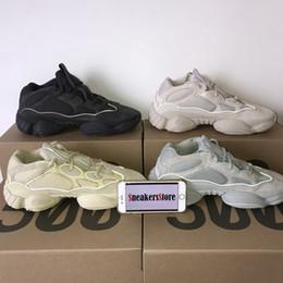 b7a36a129aa Com Box 2019 Onda Runner 500 Kanye West Deserto Rato 500 Utilitário Preto  Super Lua Amarelo Blush Salt Homens Mulheres Tênis De Corrida esporte