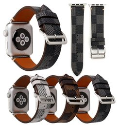 Смарт Ремни Кожа Для Apple Watch iwatch 1 2 3 4 Замена Apple Watch Классический Плед от