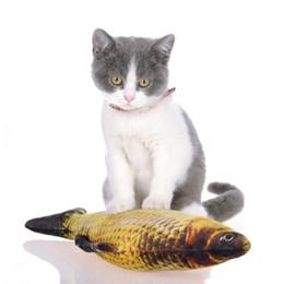 strumenti di pesca 3d Sconti Peluche gatto giocattoli 3d carpa pesce forma gatto giocattolo catnip pesce bambola di pezza simulazione pesce che gioca giocattolo pet strumento di formazione interattivo 30 cm YW3932