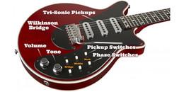 Argentina Gremio raro Brian May Guitarra Guitarra eléctrica roja 24 trastes bmg especial guitarra antigua cereza eléctrica con Wilkinson Tremolo Bridge Suministro