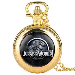Sehe alte mode online-Alte Taschenuhr für Mann-Quarz-Taschenuhren des Dinosaurier-Muster-Mode-Geschenk-Taschenuhr-Mannes