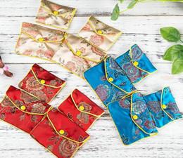 Argentina 120 unids / lote cremallera floral monedero bolsa pequeñas bolsas de regalo para la joyería bolsa de seda bolsa titular de la tarjeta de crédito chino 6x8 8x10 10x12 cm venta al por mayor Suministro