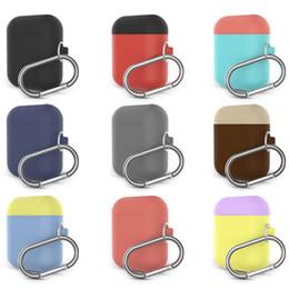 2019 deckung klettern Silikonhülle für Apple Airpods Protecter Hülle für Skin Strap-Ladegerät mit Kletterhaken 40 Farben günstig deckung klettern
