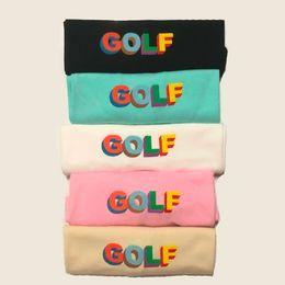 2020 Novo Atacado Luxo LOGO Wang 3D Golf Shorts Mens Designer camisetas das mulheres Casal Camiseta Hip Hop de alta qualidade Tide Tee HFSSTX275 de