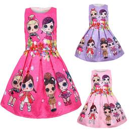 Bebê Vestidos 3-9Y bonito do verão trajes Miúdos do Natal do partido elegantes roupas de crianças Princesa Lol Girls Dress de Fornecedores de roupa ocidental do bebê por atacado