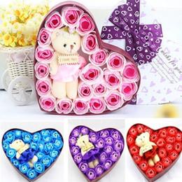 vestuário de fita de cetim Desconto Partido do presente Flor Rosa elegante Soap flor do Natal favores presente Dia dos Namorados