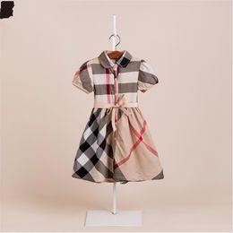 платья для кукол Скидка Летние девушки хлопок платье детские дети принцесса решетки юбка кукла юбка