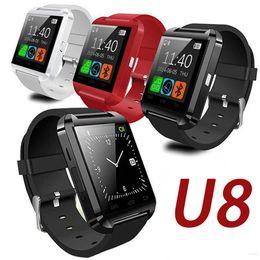 Смарт-часы U8 Bluetooth Smart Watch Сенсорные наручные часы SmartWatch для iPhone 4 4S 5 5S Samsung S4 S5 Note 3 HTC Android-телефон Смартфон supplier touch phone s4 от Поставщики сенсорный телефон s4