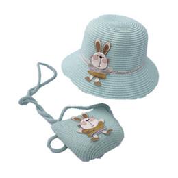 летние соломенные кошельки Скидка Мультфильма детские дизайнерские шапки + детская сумка 2 шт. / Компл. Летние детские шапки принцессы для девочек соломенная шляпа девушки ведро шляпа + кошельки пляжные костюмы A6213