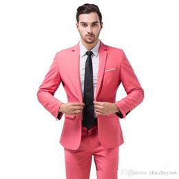 e9eba56d39531 2018 Nouvelle Mode Rose Tuxedos Groom Notch Lapel Meilleur Groomsmen Suit  Slim Fit Hommes Costumes De Mariage (Veste + Pantalon + Cravate) cravate rose  pour ...