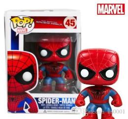2019 juguetes de planta vs zombie gratis Funko Pop Marvel The Amazing Spiderman 2 Spider-man Vinly Figura de acción # 45 en Caja Regalo Muñeca de juguete