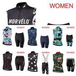 Camisa de ciclagem da forma on-line-MORVELO equipe Ciclismo moda Hot MULHERES de Alta Qualidade Confortável Respirável Anti-suor Ciclismo Seco Rápido Sem Mangas jersey Colete shorts conjuntos