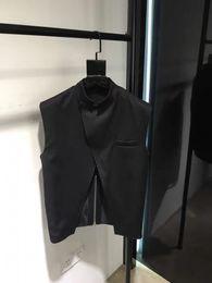 cole homens modelos Desconto S-6XL 2019 New roupas masculinas de Cabeleireiro Moda Original Irregular Colete modelo sem mangas Vest plus size Singer trajes