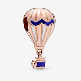 2020 ballonperlen Amala Schmuck Sterling Silber 925 Blau Heißluftballon Charm Bead mit Cz Passt Europäischen Pandora Schmuck Armbänder Halsketten Anhänger günstig ballonperlen