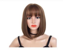 Mode perruque air Qi Liu Hai grand cuir chevelu bobo vague tête faux cheveux réparation visage naturel réaliste perruque beauté naturelle Perruques Cheveux Pour Femmes ? partir de fabricateur