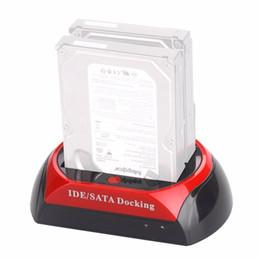 мини-миль на галлон Скидка Стандарт ЕС удобный 2.53.5-дюймовый IDE SATA USB 2.0 двойной жесткий диск Жесткий диск станции для SATA/HDD/IDE