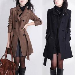 xs mujer abrigo largo coreano Rebajas Otoño e invierno Nueva gabardina para mujer coreana Talla mediana y larga Prendas de abrigo delgada Botón de doble fila Aguja Trench Coat