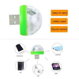 laserlichtformen Rabatt USB Gadgets USB Laserlicht Mini RGB LED Kugelform Bühneneffekt Praktisches Licht Für Handy PC Energienbank Für Party Club
