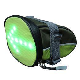 Control de asiento online-Paquete de LED Ciclismo Bolsa de sillín debajo del asiento Indicador a prueba de agua Control remoto Señales de giro Moto inalámbrica para viaje en exteriores