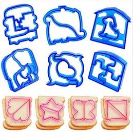 Moldes para cães on-line-Crianças DIY molde sanduíche cortador de sanduíche almoço brinde molde urso carro cão teris forma bolo pão biscuit molde cortador de alimentos Alimentação do bebê M342