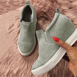 Canada bottes pour femmes bottes compensées femme talons hauts escarpins hauteur hauteur y compris bottillons sapato feminino zapatos de mujer casual 20181202 Offre