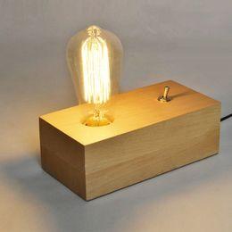 2019 lâmpadas de mesa industriais vintage Candeeiro de mesa de madeira industrial do vintage europeu lâmpada de mesa de madeira criativa simples da luz da cabeceira do estudo desconto lâmpadas de mesa industriais vintage