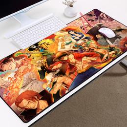 Personagens de uma peça on-line-LaumansHot Anime Ir Comic One Piece Mousepad para Um Presente Para Amigo Grande Tamanho Grande Overlock Borda One Piece Personagens Tablemat