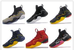 low priced f9155 7d107 2019 neue Pharrell x Crazy BYW Wand-Weg kobe Harden Basketball-Schuhe AAA  Qualität Schwarz Rot Gelb Mens Sneakers Designer Sportschuhe 40-46 rabatt  neue ...