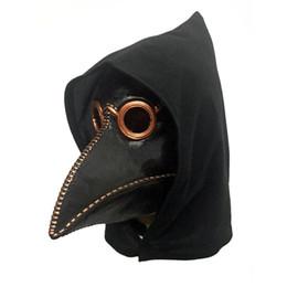 Masque de corbeau en Ligne-Masque Punk Crow Reaper Jamais plus peau Masques Reaper Peste Médecin Masque Oiseaux Nez Long Punk Crow Retro Rock