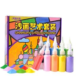 Çocuk Çocuk DIY El Yapımı Boyama Seti Çizim Oyuncak Üç boyutlu Renk Kum Boyama Resimleri El Sanatları Eğitim Oyuncak nereden