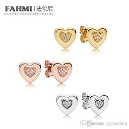 Bijoux glamour en Ligne-FAHMI 100% en argent Sterling Glamour 267382CZ 287382CZ 297382CZ Charme boucles d'oreilles femmes originales de mariage bijoux de mode 2018