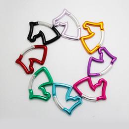 spielzeug pferd kopf Rabatt Mischfarbe Schnalle Pferdekopf Typ EDC Aluminiumlegierung Taste Im Freien Gepäck Und Taschen Wasserkocher Spielzeug Bergsteigen Flexible 3bcf1