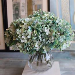 flores coloridas artificiais Desconto 7 Cores 1Bunch / 3PCs Flor artificial Falso Snowball Hydrangea Bouquet Natal arranjo de casamento decoração de casa