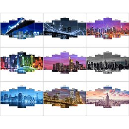 2020 etiqueta de la pared paisaje Venta al por mayor Diamond Painting Landscape Full Square Diamond Embroidery City Scene Picture Rhinestone Mosaic Wall stickers home Decoration etiqueta de la pared paisaje baratos