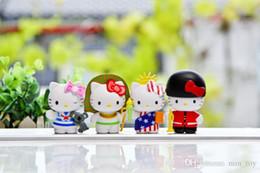 Deutschland 5-6cm Hallo Kitty Ausgabe Action-Figur Modell Kinder Spielzeug nette Geburtstags-Geschenk DIY Home Collection Puppen Versorgung