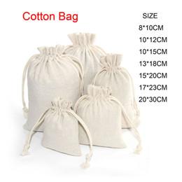 Borse da regalo in lino online-Cotone Lino coulisse Bag Small mussola Bracciale gioielli regali di imballaggio sacchetti svegli coulisse sacchetto del regalo Sacchetti Candy sacchetto di immagazzinaggio per i bambini