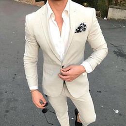 boutons de marié argent Promotion Beau boutonnière revers garçons d'honneur One Button Groom Smokings Hommes Costumes Mariage Dîner de bal de mariage Meilleur homme Blazer (Veste + Pantalon)