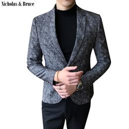 casaco preto Desconto NB Terno Jaqueta 2019 Homens Formais Blazer Preto Dos Homens Casaco Frock Vestido Jaquetas Homem Slim Fit Terno de Negócios Casaco Vestido Blazer SR25