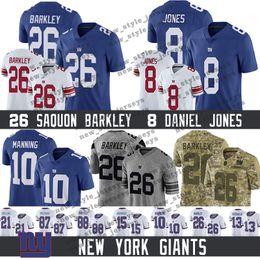 87 jersey on-line-Nova Iorque 26 Saquon Barkley Gigantes Jersey 8 Daniel Jones 87 Esterlina Shepard 10 Eli Manning 21 Landon Collins 56 Camisolas de Lawrence Taylor