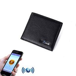 anti-diebstahl-geldbörsen Rabatt Echtes Leder Männer Brieftasche sintelligent bluetooth anti loss diebstahl Brieftasche Zip Münzfach Geldbörse Rindsleder Brieftaschen Für IOS Android