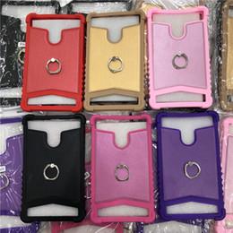Pouce pouces en Ligne-Universel antichoc souple anneau de silicone Stand cas de la tablette en cuir robuste couverture de protection arrière pour iPad mini 6 7 8 pouces