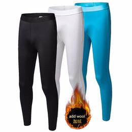 Pantyhose de los deportes online-Leggings deportivos para mujer Medias térmicas de compresión Pantalones para correr Pantalones de yogal elástico Yogalegging agregar leggings de lana