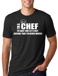 Moda classica Divertente Chef T-Shirt Chef Ristorante T-Shirt Regalo Chef Uomo T-Shirt Stampa Cotone Manica corta T cheap restaurant shirts da camicie da ristorante fornitori
