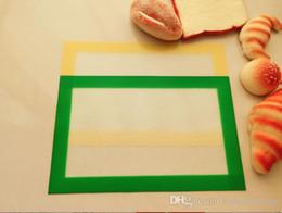 силиконовый стекловолоконный мат Скидка Food Grade антипригарным силикон Стекловолокно Выпечка Mat 31 * 20.5 * 0.7cm Для торта Macaron антипригарной выпечки Liner Мата