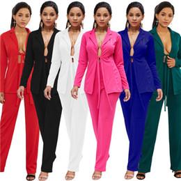 casacos para mulheres Desconto Novas Mulheres Sexy Terno Casuais OL Trabalho Casaco Jaqueta para Mulheres Slim Fit Casaco Outwear Profissional Moda Macacão Branco Preto Blazers S-XXL