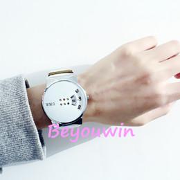 Quarzo di orologio da donna online-100 pz / lotto moda womage cinturino in pelle orologio da polso al quarzo casuale per uomo donna all'ingrosso