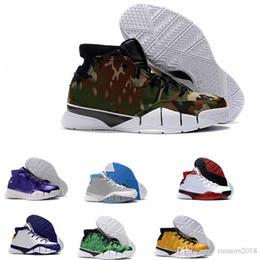 new concept d4a44 019af 2018 Vente chaude Nouveau kobe 1 Protro ZK1 Noir Or Rouge Thomas Camouflage  Vert Olive pas cher Trois chaussures noir pour hommes Taille 40-46  chaussures ...